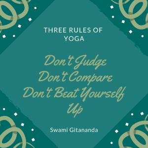 three rules of yoga