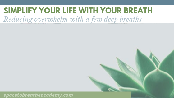 Simplify your life with your breath