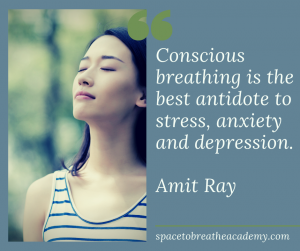 conscious breathing stress depression amit ray