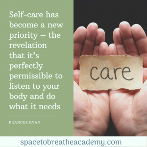 self care priority and permissable - francis ryan quote